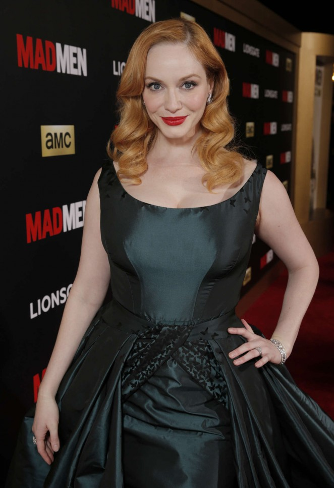 Christina Hendricks - AMC Mad Men Black & Red Ball in LA
