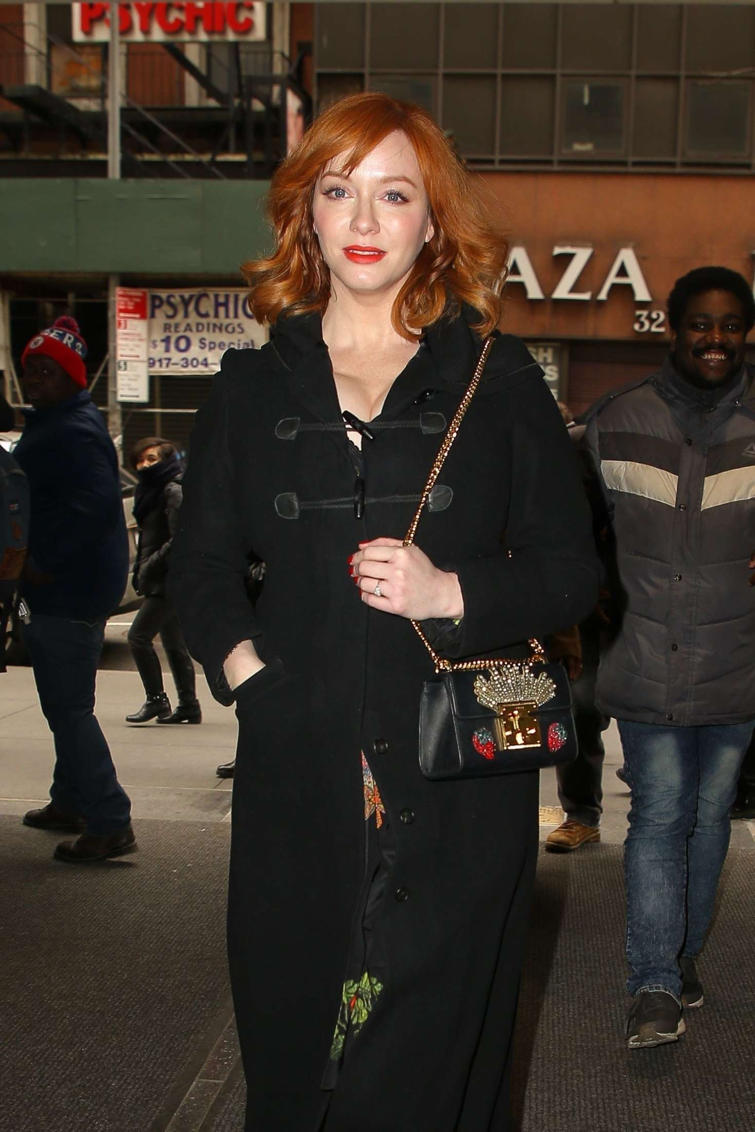 Christina Hendricks - Arriving at the NBC Studios in NYC