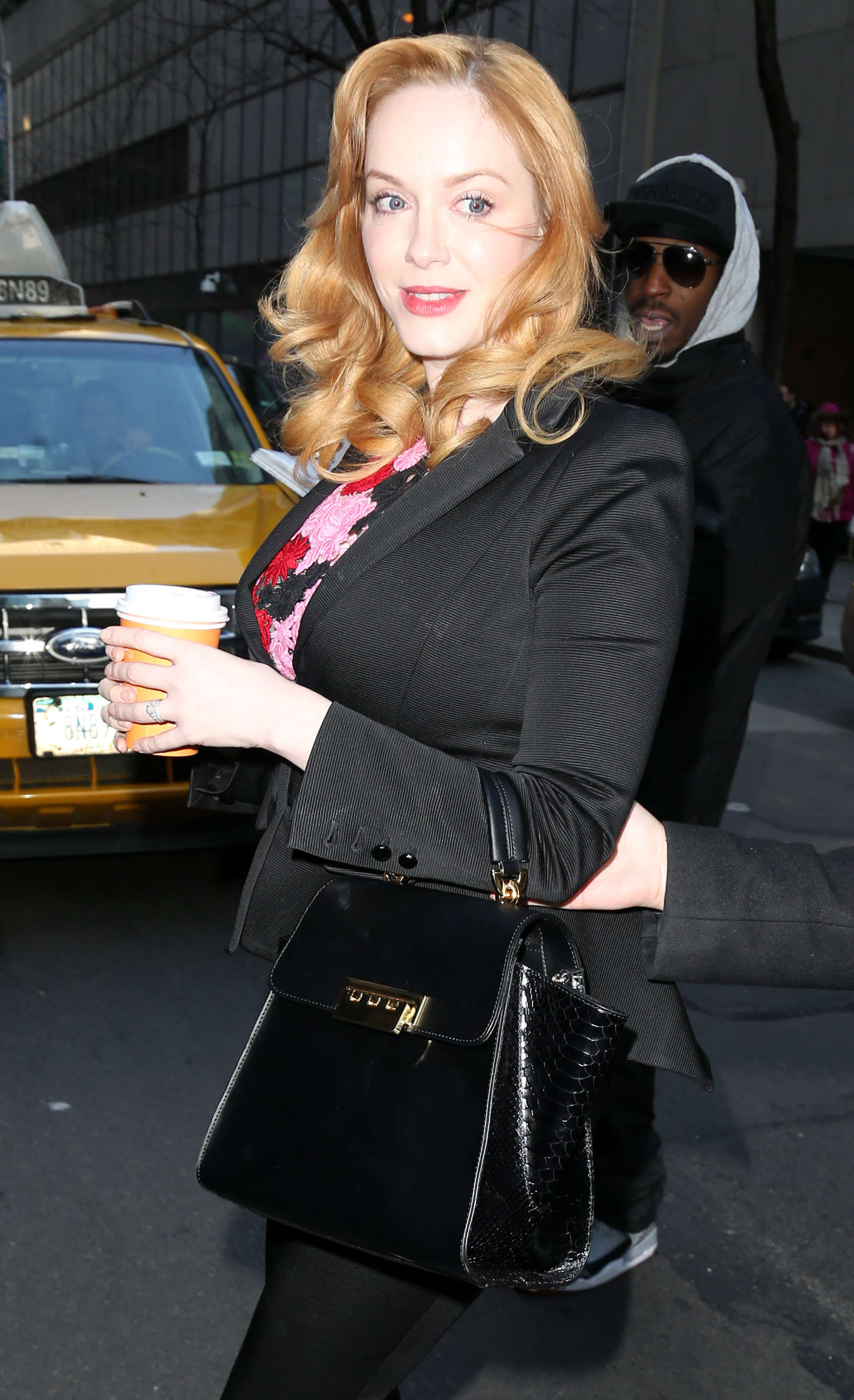 """Christina Hendricks - Arriving at """"Today Show"""" in NYC"""