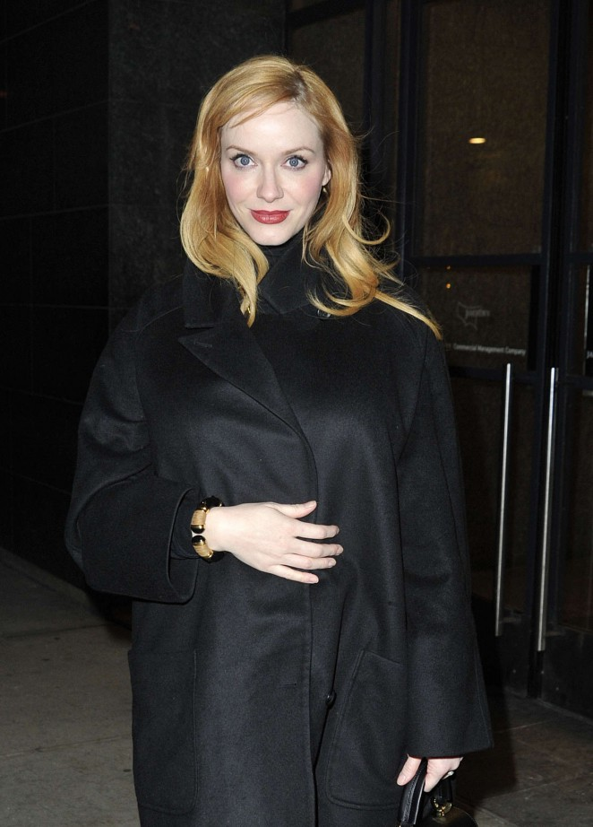 Christina Hendricks - Arriving at 'Watch What Happens Live' in NYC