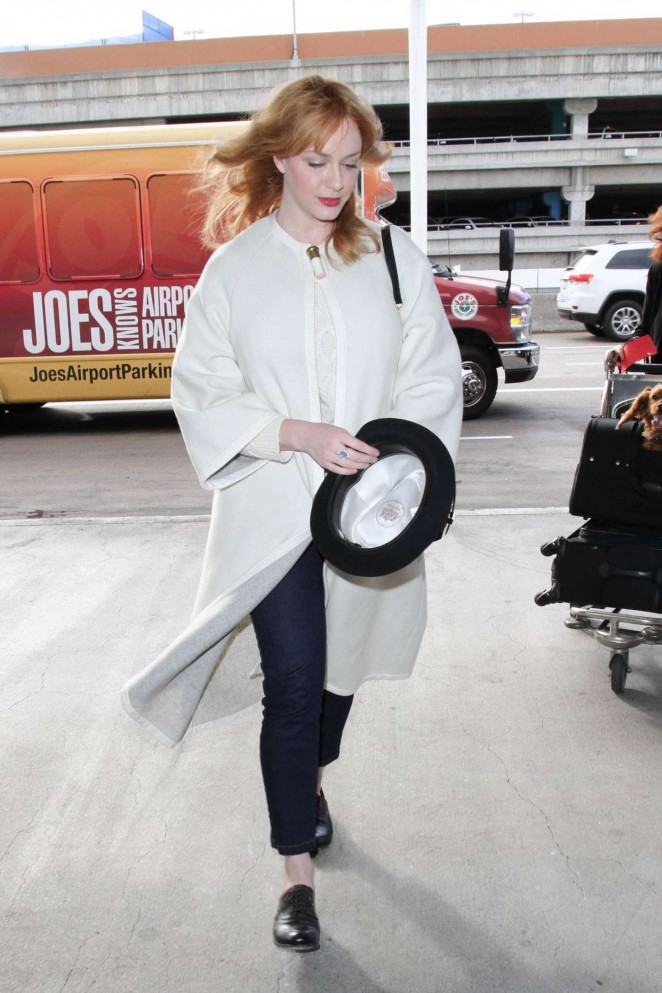 Christina Hendricks at LAX Airport in Los Angeles