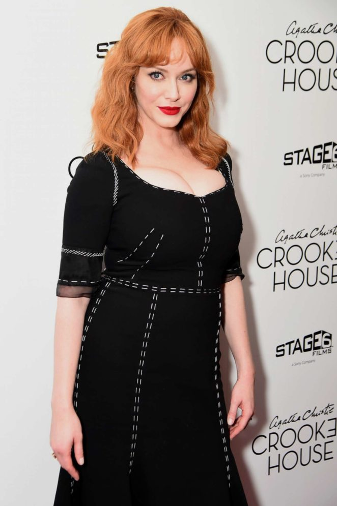 Christina Hendricks - 'Crooked House' Premiere in NY