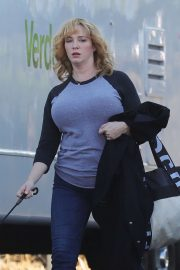 Christina Hendricks - Gets back to work in Los Angeles