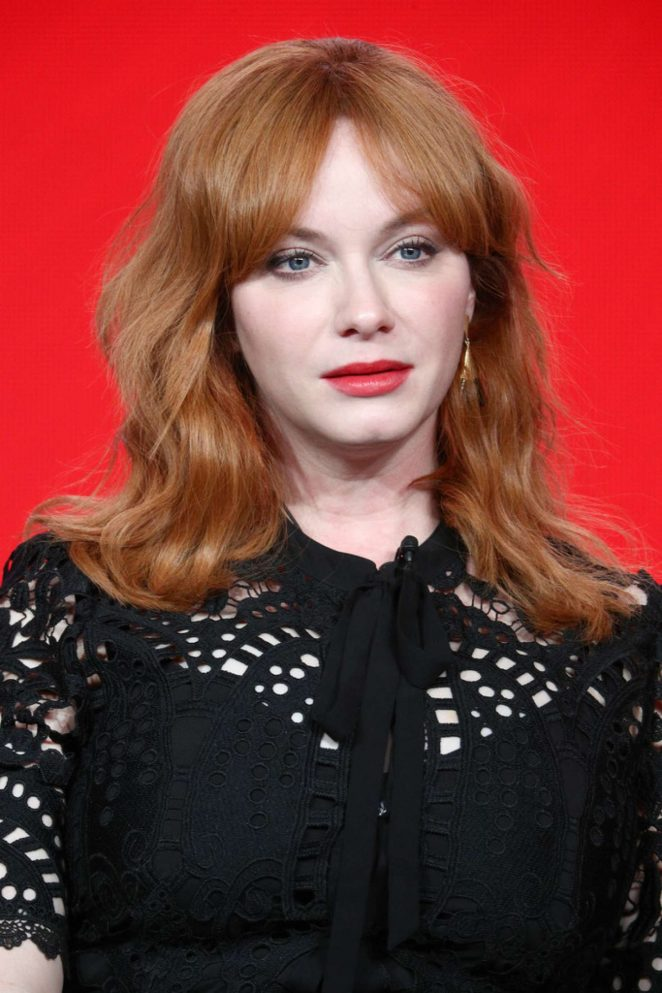 Christina Hendricks - 'Good Girls' TV Show Panel at Winter TCA Tour in Pasadena