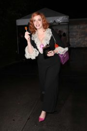 Christina Hendricks - Heads to a house party in Los Angeles