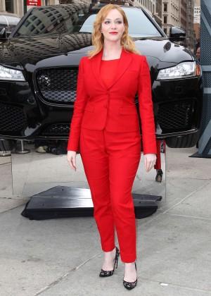 Christina Hendricks - Jaguar 2016 XF Sedan Unveiling in NY
