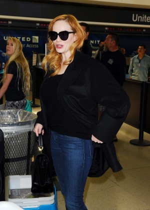 Christina Hendricks - LAX Airport in LA