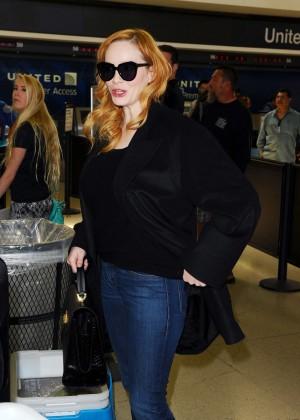 Christina Hendricks - LAX Airport in LA