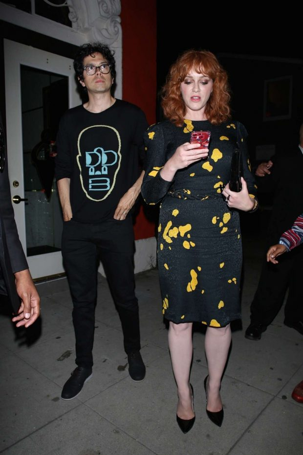 Christina Hendricks - Leaving the 'Too Old to Die Young' Premiere in LA