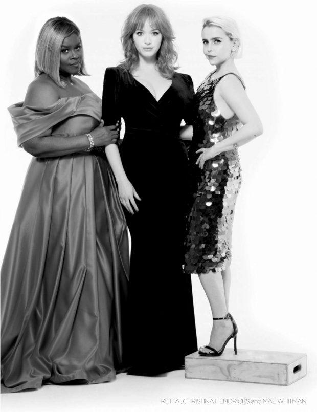 Christina Hendricks, Mae Whitman and Retta - Emmy Magazine (August 2019)