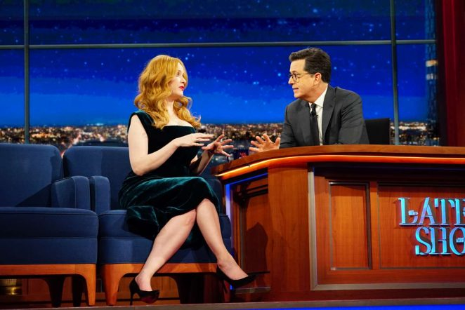 Christina Hendricks on 'The Late Show with Stephen Colbert' in NYC