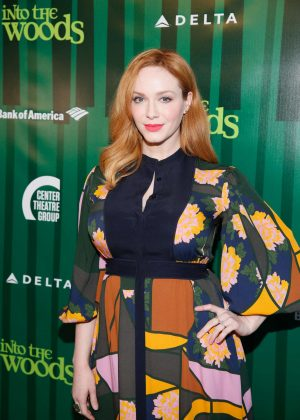 Christina Hendricks - Opening night performance of 'Into the Woods' in LA
