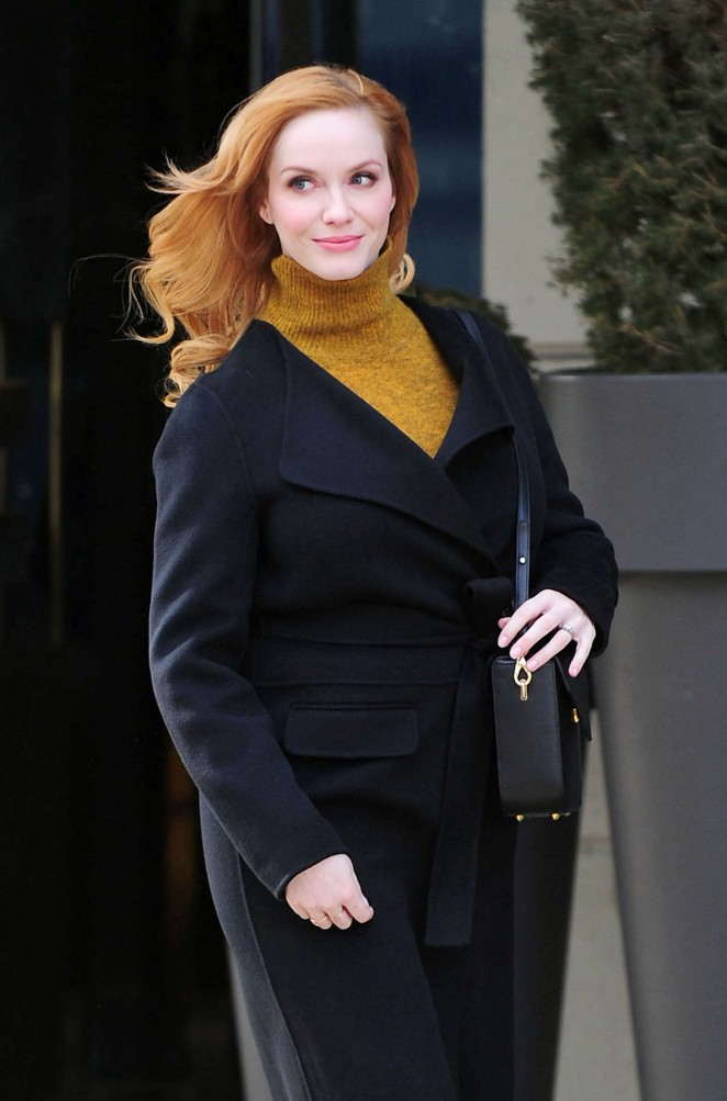 Christina Hendricks - Out and about in NYC