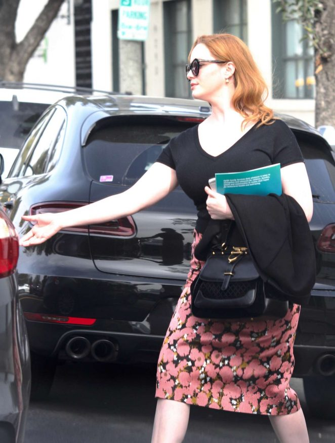 Christina Hendricks out in Los Angeles