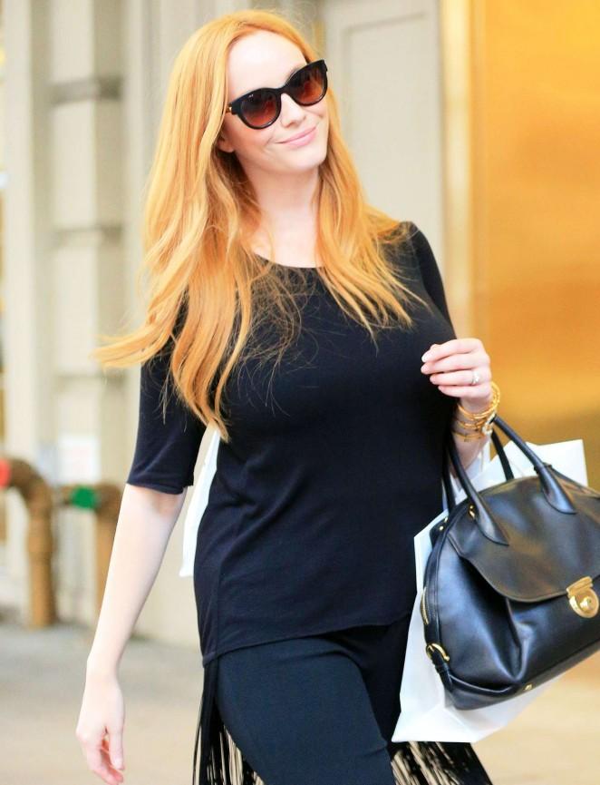 Christina Hendricks - Shopping in New York