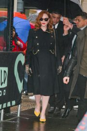 Christina Hendricks - Spotted at Build Series while promoting her work
