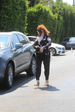Christina Hendricks - Spotted at Jennifer Klein's Day of Indulgence party in Brentwood