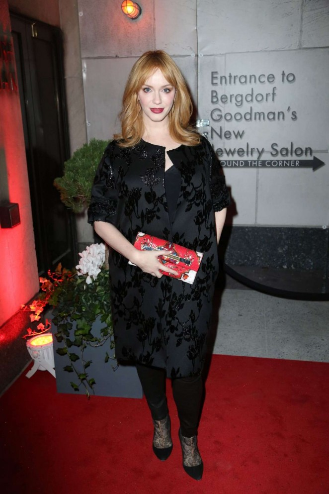 Christina hendricks the bergdorf goodman x gemfields - Bergdorf goodman salon ...