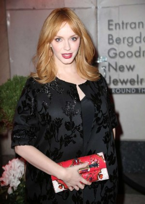 Christina Hendricks - The Bergdorf Goodman x Gemfields Jewelry Salon Opening Night Event in NYC
