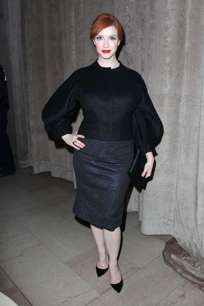 Christina Hendricks - Zac Posen Fashion Show 2015 in NYC