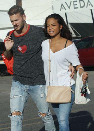 Christina Milian and boyfriend Matt Pokora out in LA