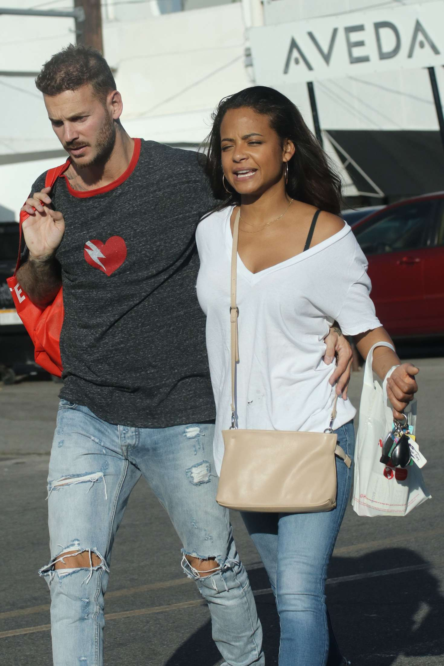 Christina Milian and boyfriend Matt Pokora out in LA
