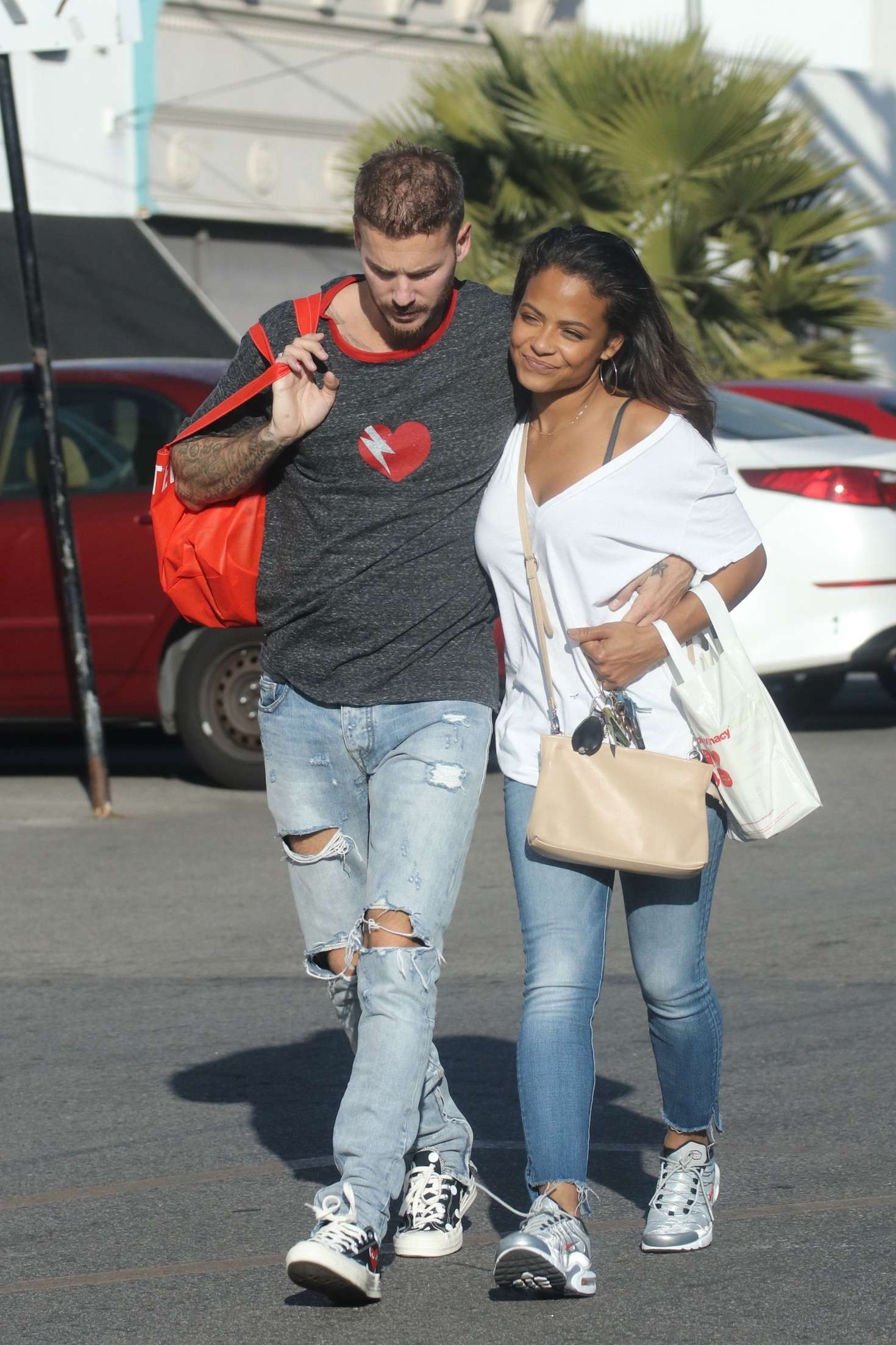 Christina Milian and boyfriend Matt Pokora out in LA -16 ...