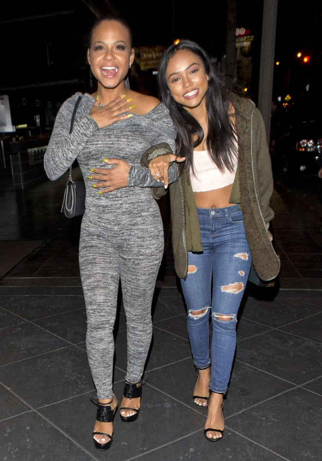 Christina Milian and Karrueche Tran Night out in West Hollywood