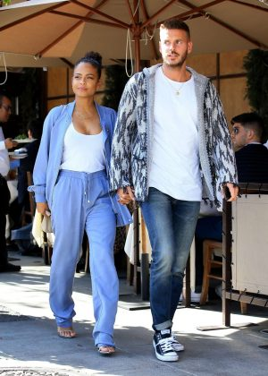 Christina Milian and Matt Pokora - Leaving Il Pastaio in Beverly Hills