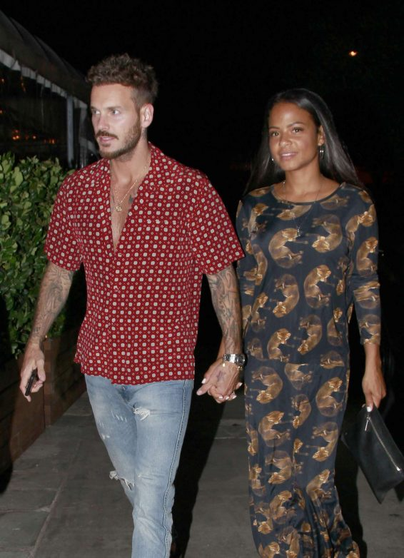 Christina Milian and Matt Pokora - Out in West Hollywood