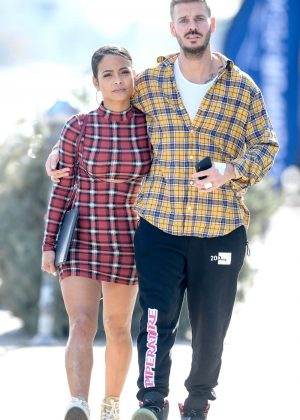 Christina Milian and Matt Pokora - Out of lunch in West Hollywood