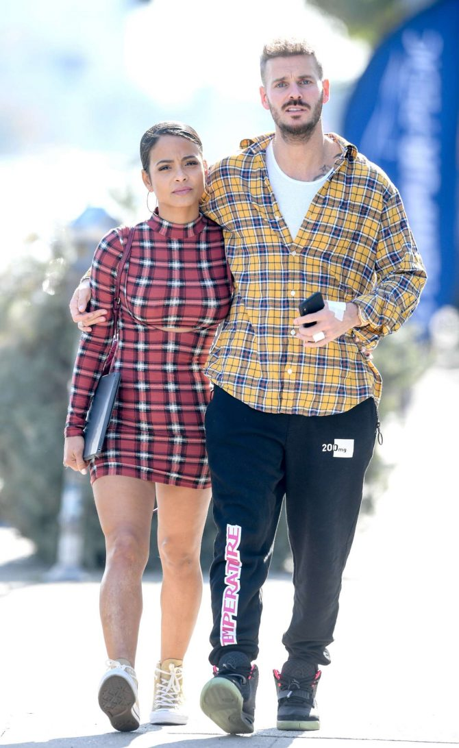 Christina Milian and Matt Pokora – Out of lunch in West Hollywood