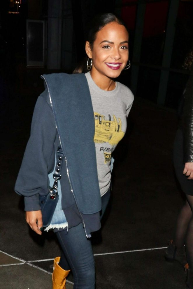Christina Milian - Arrives at a Lakers game in Los Angeles