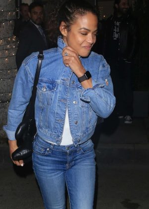 Christina Milian - Arrives at Madeo restaurant in Los Angeles