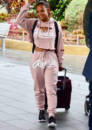 Christina Milian Arrives in Sydney