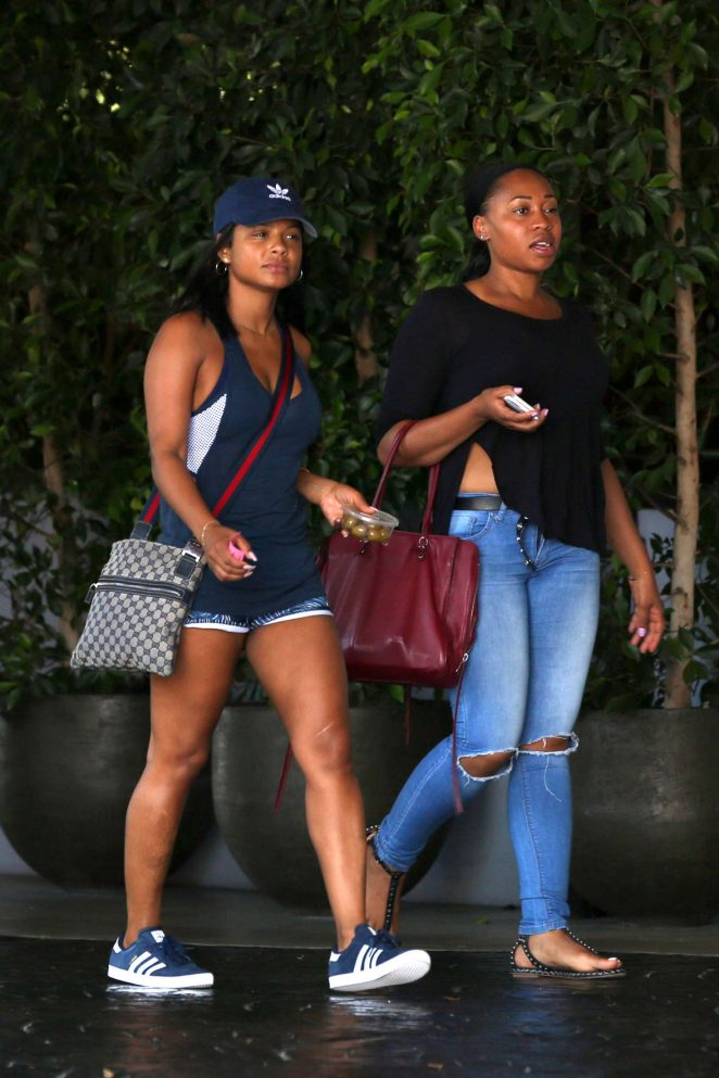 Christina milian arriving to the sls hotel pool party 01 - Beverly hills public swimming pool ...