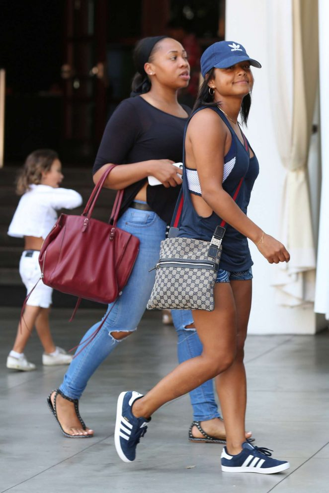 Christina milian arriving to the sls hotel pool party 17 - Beverly hills public swimming pool ...