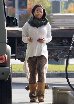 Christina Milian at a gas station in Studio City