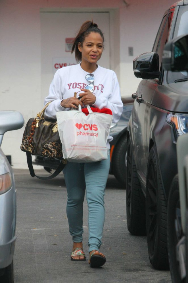 Christina Milian at CVS store in Los Angeles
