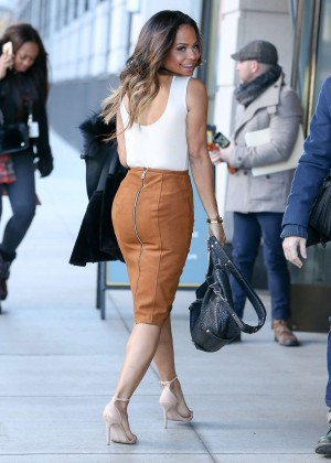 """Christina Milian at """"Good Day New Yor"""" in NYC"""