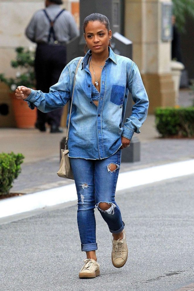 Christina Milian at The Grove in West Hollywood