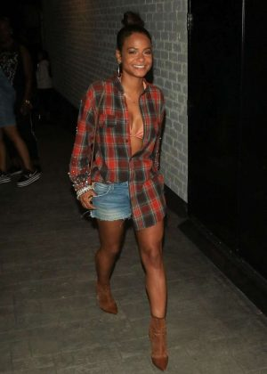 Christina Milian at The P nightclub in Hollywood