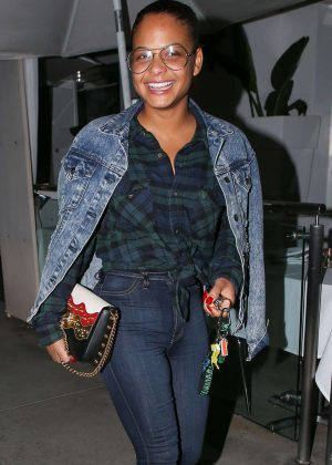 Christina Milian at Villa Blanca in Beverly Hills