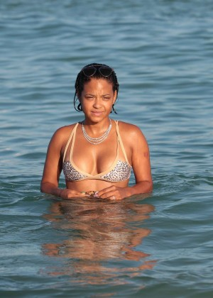 Christina Milian in Bikini -06