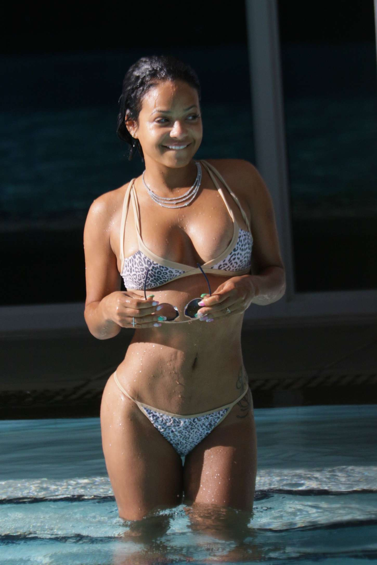 International Celebrities Christina Milian Bikini