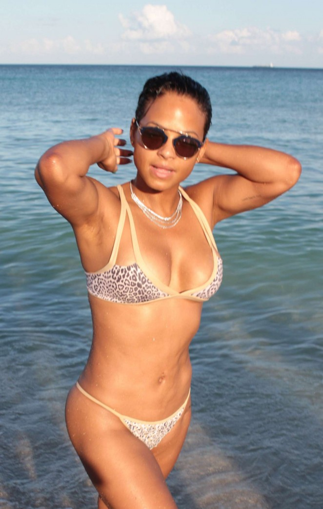 Christina Milian in Bikini in Miami