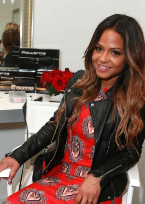 Christina Milian - Colgate Optic White Beauty Bar at The Selma House in LA