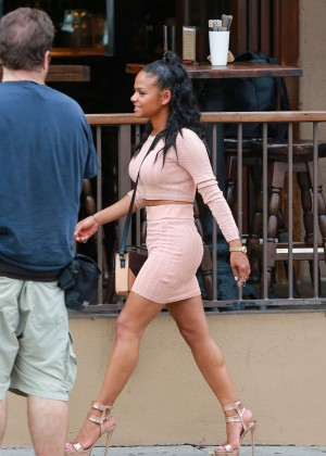 Christina Milian - Filming on Sunset Blvd in West Hollywood