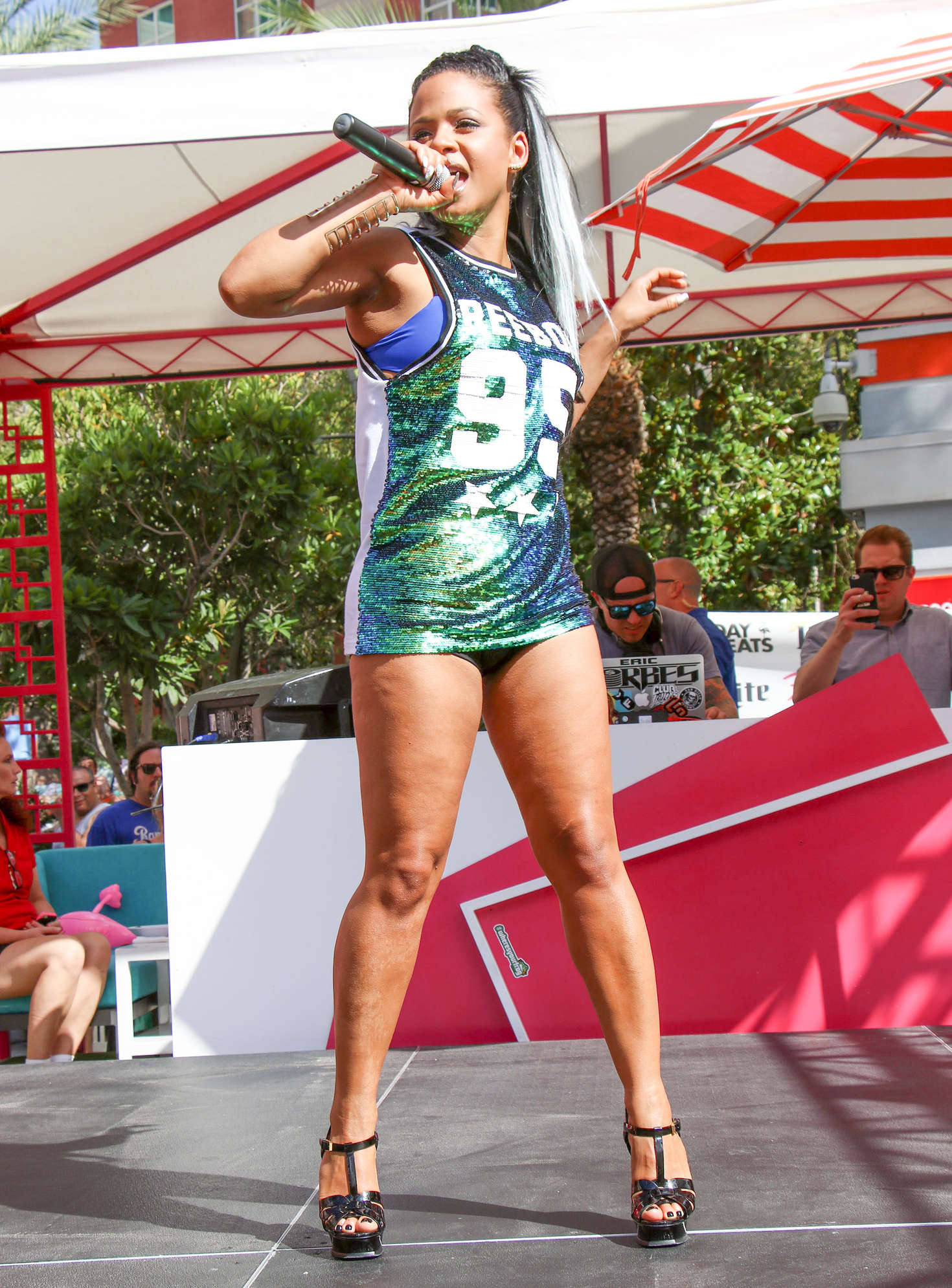 Christina milian go pool party at the flamingo 25 gotceleb for Pool show vegas 2016