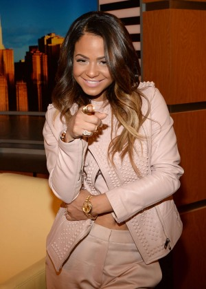 Christina Milian - 'Good Day New York' on Fox in NY